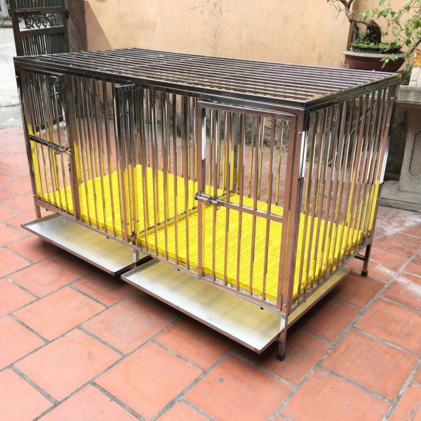 Chuồng chó inox 2 ngăn tại Hà Nội, Tp HCM