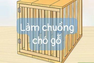 làm chuồng chó bằng gỗ
